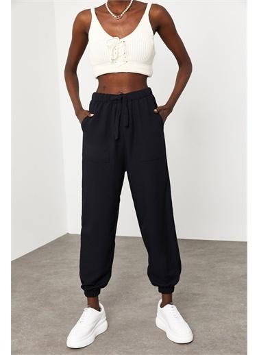 XHAN Siyah Jogger Keten Pantolon 1Kxk5-44834-02 Siyah